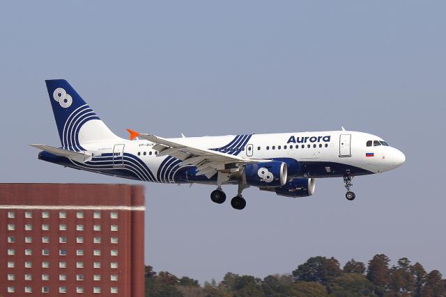 こだしさんが、成田国際空港で撮影したオーロラ A319-111の航空フォト(飛行機 写真・画像)