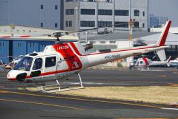 さんごーさんが、東京ヘリポートで撮影した朝日航洋 AS350B3 Ecureuilの航空フォト(飛行機 写真・画像)