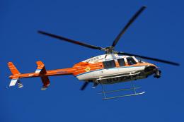 さんごーさんが、東京ヘリポートで撮影した新日本ヘリコプター 407の航空フォト(飛行機 写真・画像)