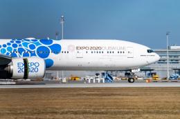 gomaさんが、ミュンヘン・フランツヨーゼフシュトラウス空港で撮影したエミレーツ航空 777-31H/ERの航空フォト(飛行機 写真・画像)