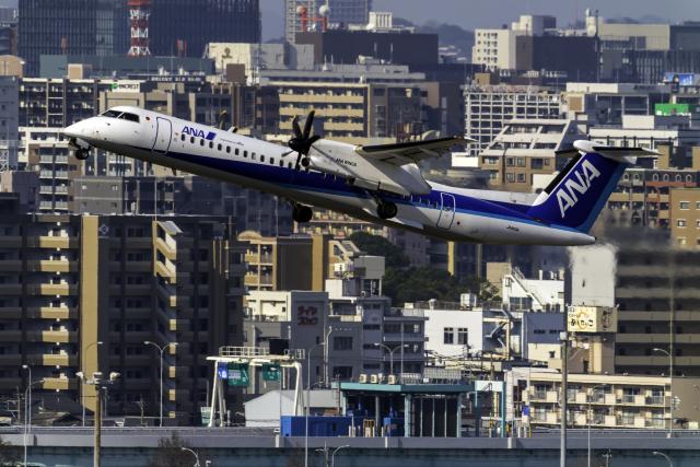 K.Sさんが、福岡空港で撮影したANAウイングス DHC-8-402Q Dash 8の航空フォト(飛行機 写真・画像)