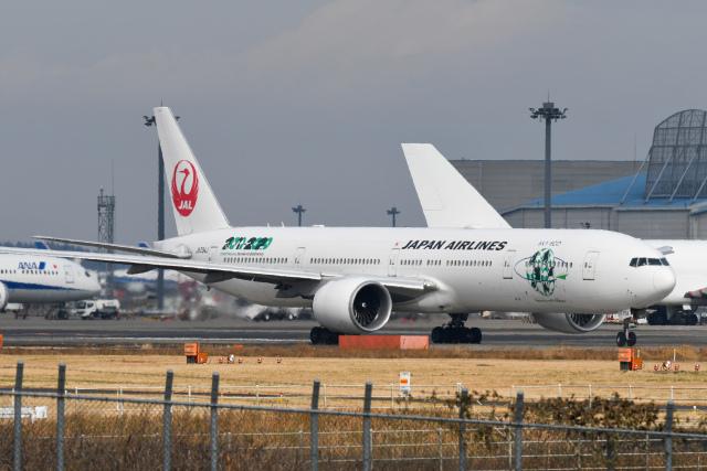 panchiさんが、成田国際空港で撮影した日本航空 777-346/ERの航空フォト(飛行機 写真・画像)