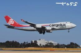 tassさんが、成田国際空港で撮影したカーゴルクス・イタリア 747-4R7F/SCDの航空フォト(飛行機 写真・画像)