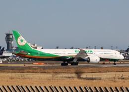 不揃いさんが、成田国際空港で撮影したエバー航空 787-9の航空フォト(飛行機 写真・画像)