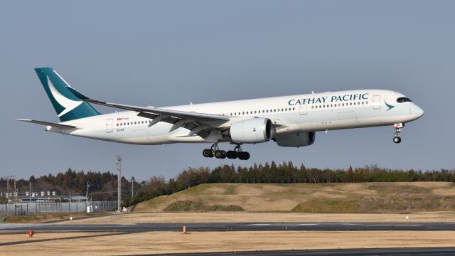 saoya_saodakeさんが、成田国際空港で撮影したキャセイパシフィック航空 A350-941の航空フォト(飛行機 写真・画像)