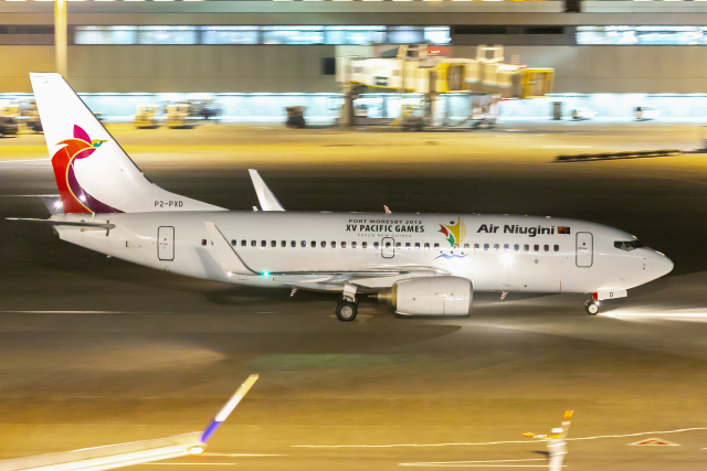mameshibaさんが、成田国際空港で撮影したニューギニア航空 737-7L9の航空フォト(飛行機 写真・画像)