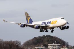 KANTO61さんが、横田基地で撮影したアトラス航空 747-45E(BDSF)の航空フォト(飛行機 写真・画像)