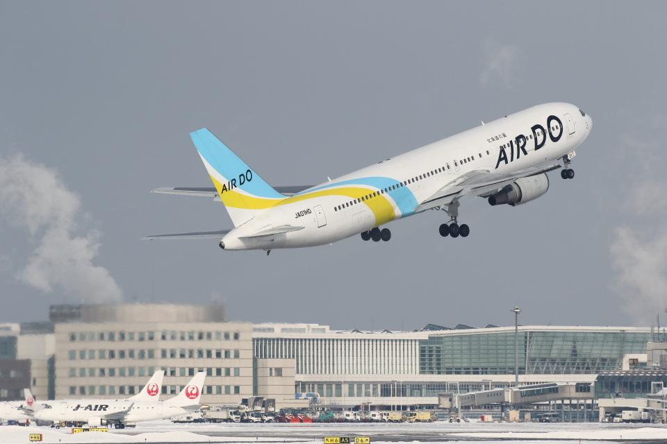 安芸あすかさんのAIR DO Boeing 767-300 (JA01HD) 航空フォト