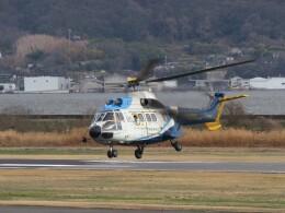 F.YUKIHIDEさんが、岡南飛行場で撮影した中日本航空 AS332L Super Pumaの航空フォト(飛行機 写真・画像)