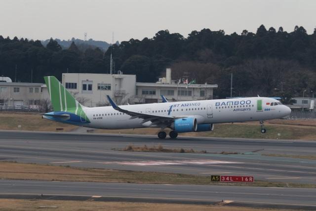 ショウさんが、成田国際空港で撮影したバンブー・エアウェイズ A321-251Nの航空フォト(飛行機 写真・画像)