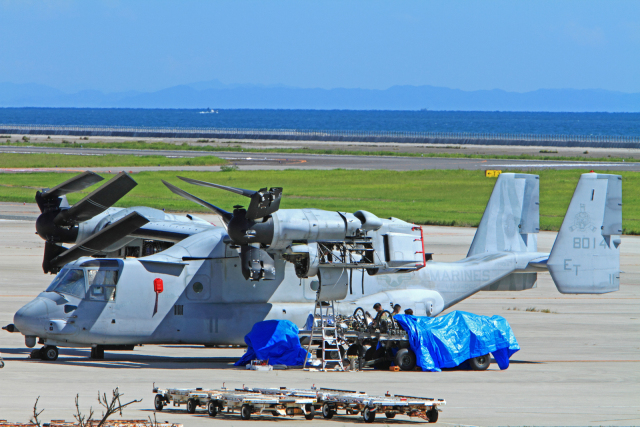 kiyochanさんが、大分空港で撮影したアメリカ海兵隊 MV-22Bの航空フォト(飛行機 写真・画像)