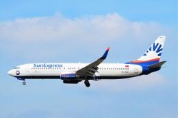 ちっとろむさんが、フランクフルト国際空港で撮影したサンエクスプレス 737-8HCの航空フォト(飛行機 写真・画像)