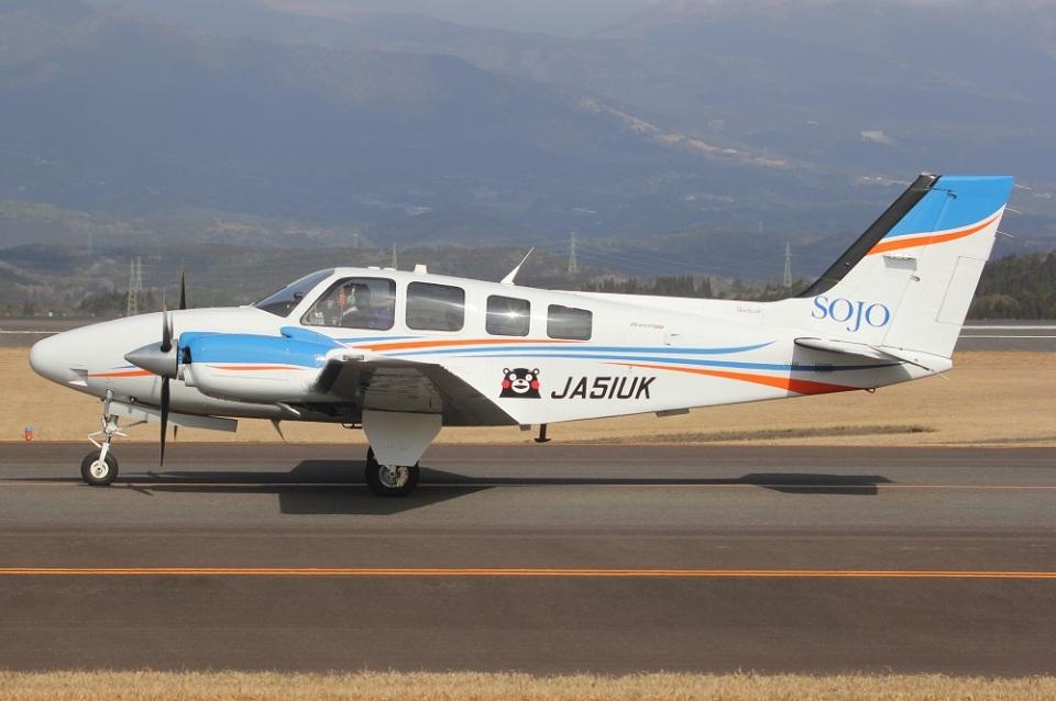 MOR1(新アカウント)さんの崇城大学 Beechcraft 58 Baron (JA51UK) 航空フォト