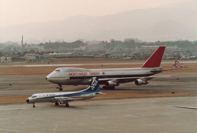 なかすぃ~さんが、伊丹空港で撮影したノースウエスト航空 747-151の航空フォト(飛行機 写真・画像)