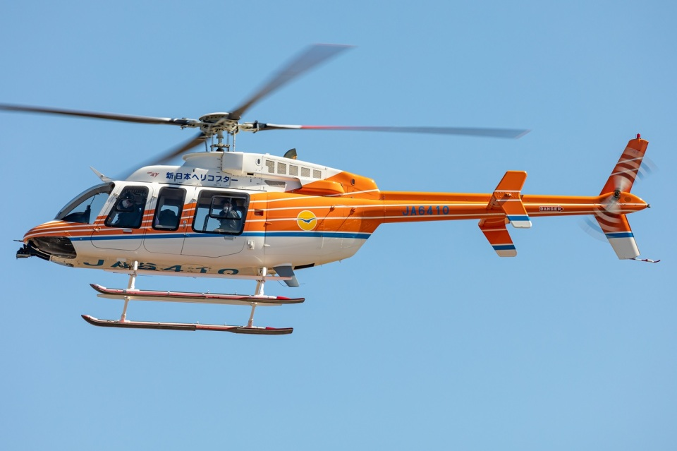 T spotterさんの新日本ヘリコプター Bell 407 (JA6410) 航空フォト