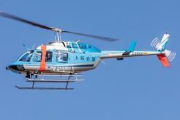 T spotterさんが、名古屋飛行場で撮影した大阪府警察 206L-4 LongRanger IVの航空フォト(飛行機 写真・画像)