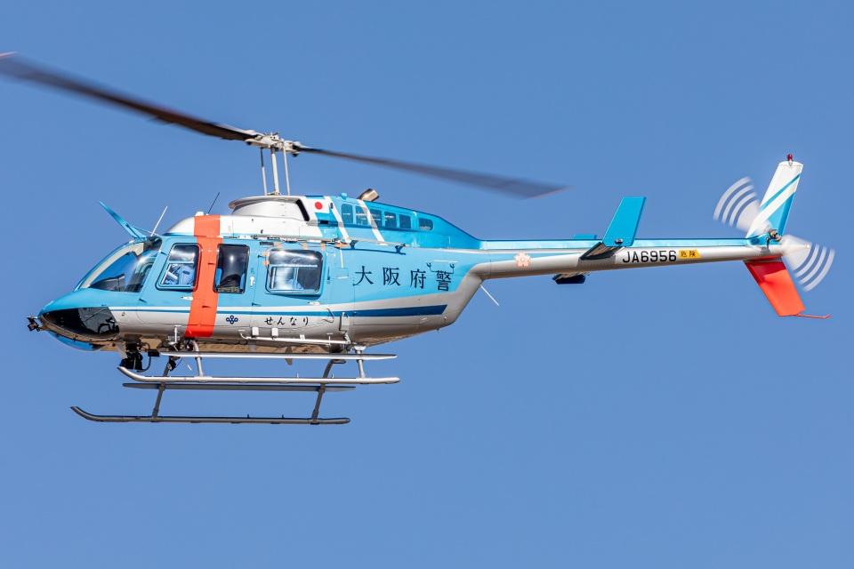 T spotterさんの大阪府警察 Bell 206/406 (JA6956) 航空フォト