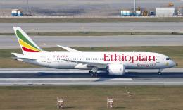 Asamaさんが、香港国際空港で撮影したエチオピア航空 787-8 Dreamlinerの航空フォト(飛行機 写真・画像)