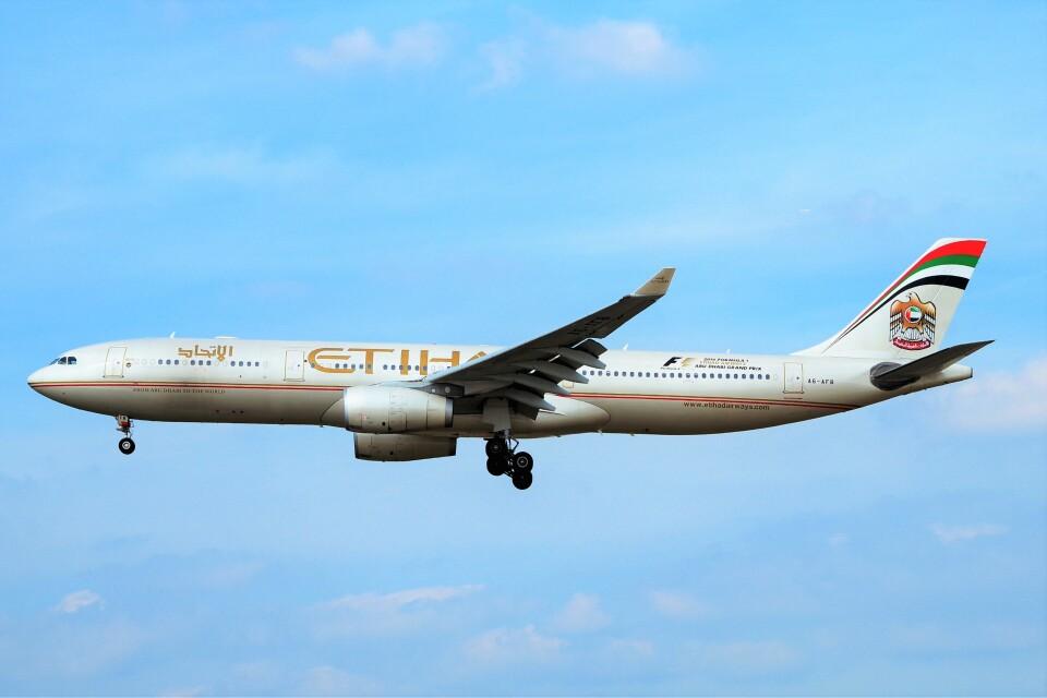 ちっとろむさんのエティハド航空 Airbus A330-300 (A6-AFB) 航空フォト