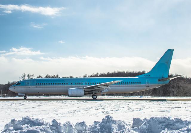 Cygnus00さんが、新千歳空港で撮影した大韓航空 737-9B5の航空フォト(飛行機 写真・画像)