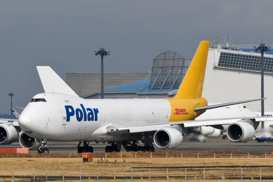 panchiさんのポーラーエアカーゴ Boeing 747-8 (N858GT) 航空フォト