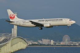 Deepさんが、関西国際空港で撮影した日本トランスオーシャン航空 737-4Q3の航空フォト(飛行機 写真・画像)