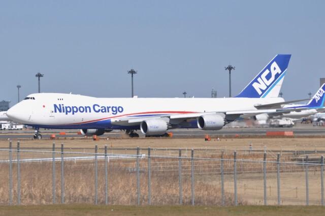 Flying A340さんが、成田国際空港で撮影した日本貨物航空 747-8KZF/SCDの航空フォト(飛行機 写真・画像)