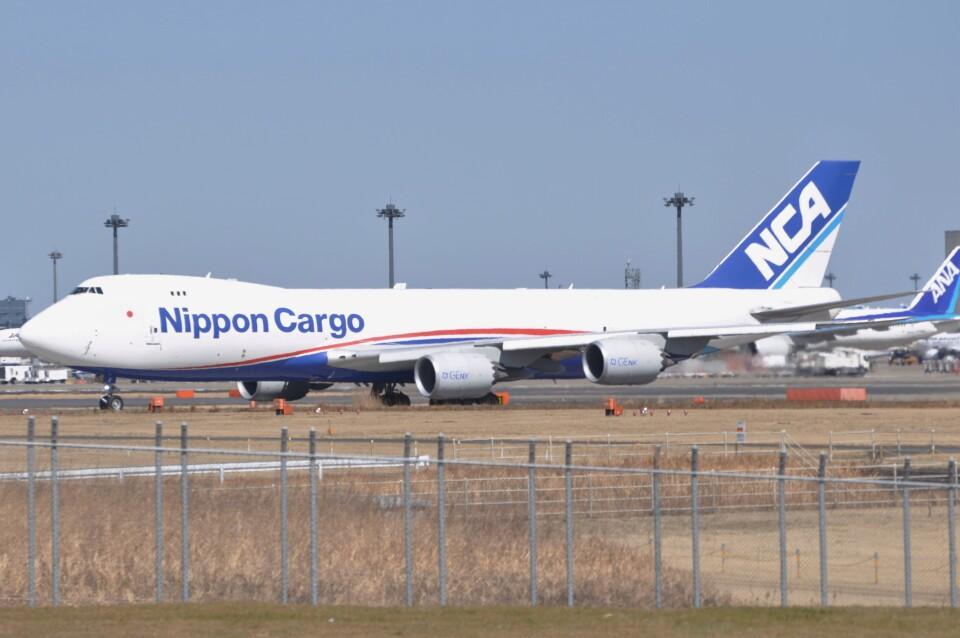 Flying A340さんの日本貨物航空 Boeing 747-8 (JA11KZ) 航空フォト