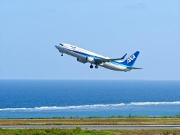 監督さんが、石垣空港で撮影した全日空 737-881の航空フォト(飛行機 写真・画像)