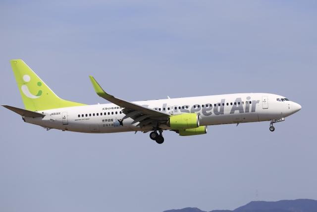 aki241012さんが、福岡空港で撮影したソラシド エア 737-81Dの航空フォト(飛行機 写真・画像)