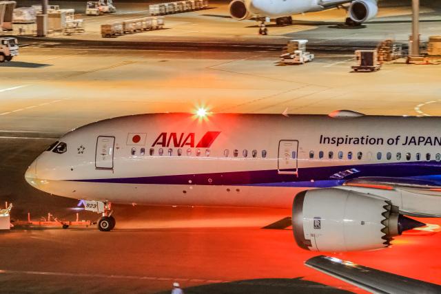 rokko2000さんが、羽田空港で撮影した全日空 787-9の航空フォト(飛行機 写真・画像)