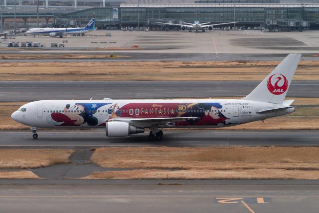 sakaki787さんが、羽田空港で撮影した日本航空 767-346/ERの航空フォト(飛行機 写真・画像)