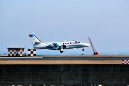 パール大山さんが、羽田空港で撮影した朝日新聞社 500 Citationの航空フォト(飛行機 写真・画像)