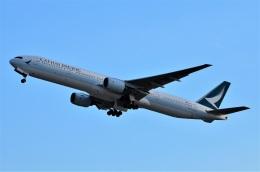 amagoさんが、関西国際空港で撮影したキャセイパシフィック航空 777-31Hの航空フォト(飛行機 写真・画像)