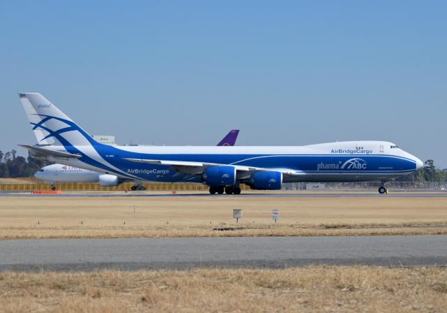雲霧さんが、成田国際空港で撮影したエアブリッジ・カーゴ・エアラインズ 747-8HVFの航空フォト(飛行機 写真・画像)