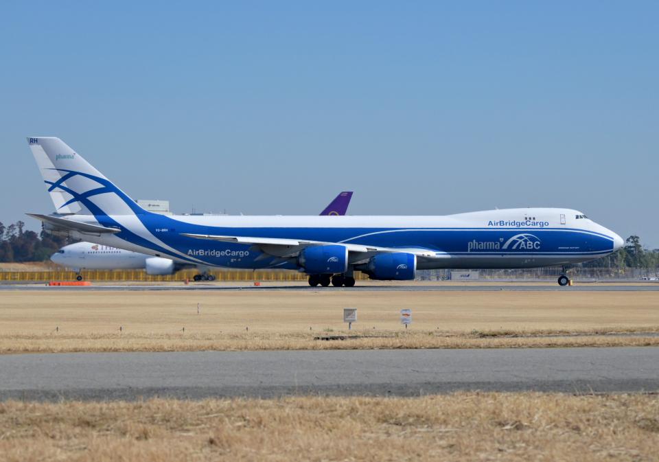 雲霧さんのエアブリッジ・カーゴ・エアラインズ Boeing 747-8 (VQ-BRH) 航空フォト