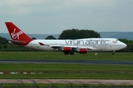 採れたてほしいもさんが、マンチェスター空港で撮影したヴァージン・アトランティック航空 747-443の航空フォト(飛行機 写真・画像)