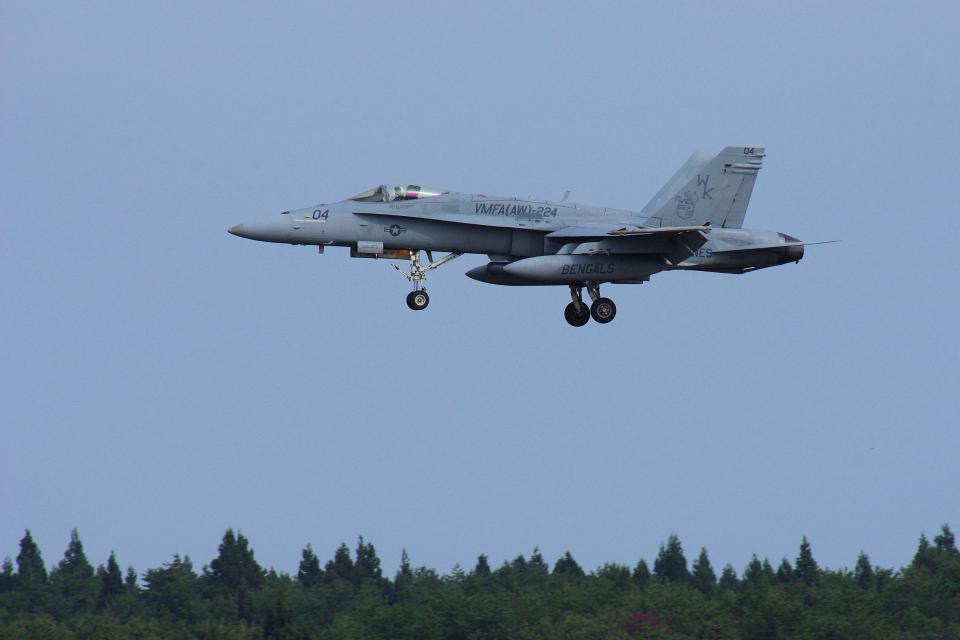 ぼくちゃんさんのアメリカ海兵隊 McDonnell Douglas F/A-18 Hornet (165208) 航空フォト