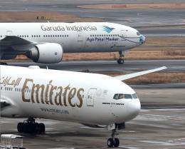 誘喜さんが、羽田空港で撮影したエミレーツ航空 777-31H/ERの航空フォト(飛行機 写真・画像)