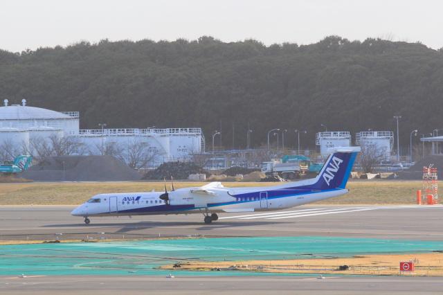 inyoさんが、成田国際空港で撮影したANAウイングス DHC-8-402Q Dash 8の航空フォト(飛行機 写真・画像)