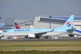 LEGACY-747さんが、成田国際空港で撮影した大韓航空 737-8Q8の航空フォト(飛行機 写真・画像)