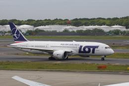 神宮寺ももさんが、成田国際空港で撮影したLOTポーランド航空 787-8 Dreamlinerの航空フォト(飛行機 写真・画像)