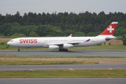 神宮寺ももさんが、成田国際空港で撮影したスイスインターナショナルエアラインズ A340-313Xの航空フォト(飛行機 写真・画像)