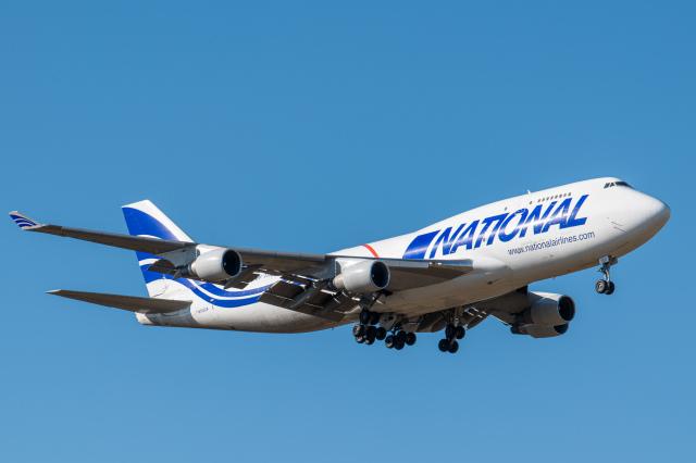 gomaさんが、ミュンヘン・フランツヨーゼフシュトラウス空港で撮影したナショナル・エアラインズ 747-412(BCF)の航空フォト(飛行機 写真・画像)
