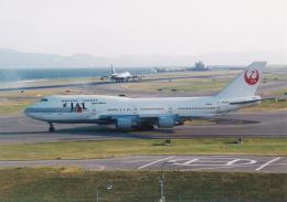 プルシアンブルーさんが、関西国際空港で撮影した日本航空 747-446の航空フォト(飛行機 写真・画像)
