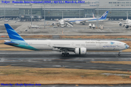 Chofu Spotter Ariaさんが、羽田空港で撮影したガルーダ・インドネシア航空 777-3U3/ERの航空フォト(飛行機 写真・画像)