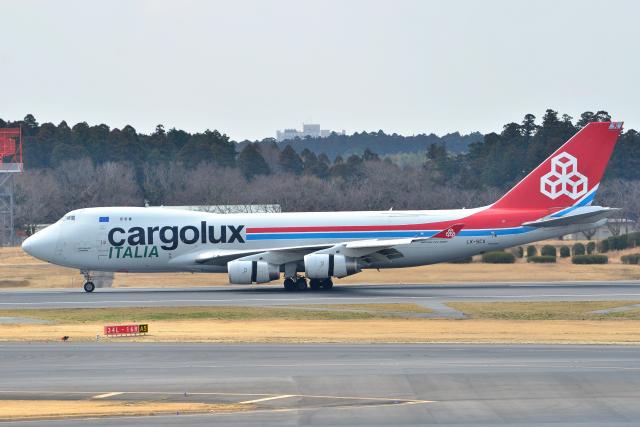 フリューゲルさんが、成田国際空港で撮影したカーゴルクス・イタリア 747-4R7F/SCDの航空フォト(飛行機 写真・画像)