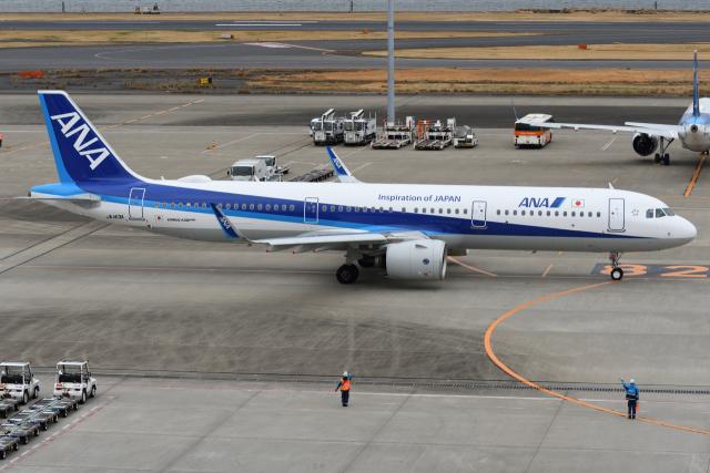 sky77さんが、羽田空港で撮影した全日空 A321-272Nの航空フォト(飛行機 写真・画像)