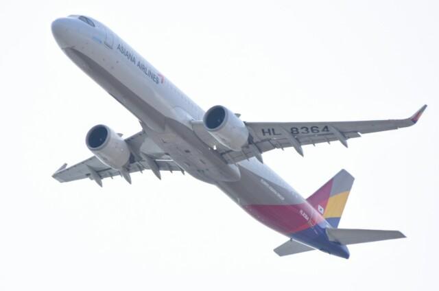 M.Tさんが、関西国際空港で撮影したアシアナ航空 A321-251NXの航空フォト(飛行機 写真・画像)
