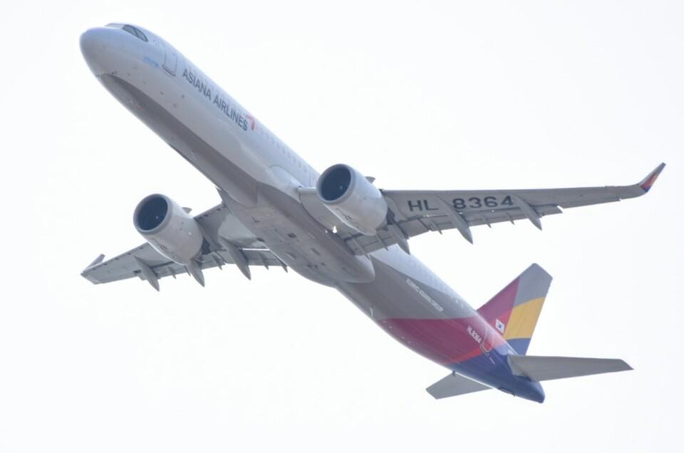M.Tさんのアシアナ航空 Airbus A321neo (HL8364) 航空フォト